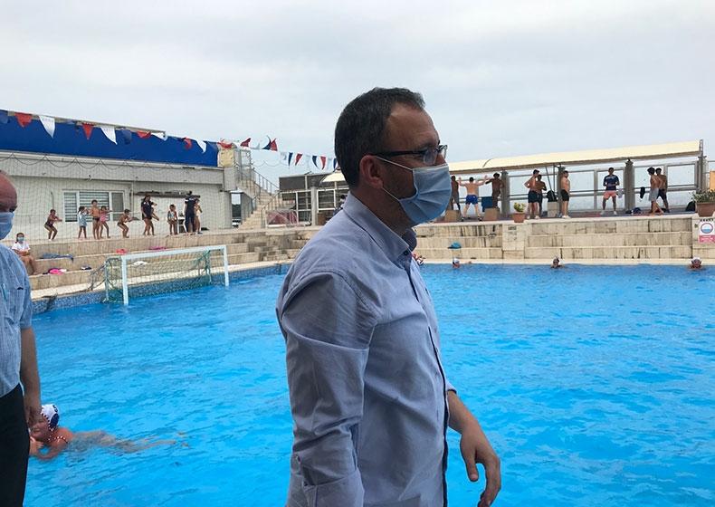 Spor Bakanımız Sutopu ve Yelken Antrenmanını İzledi