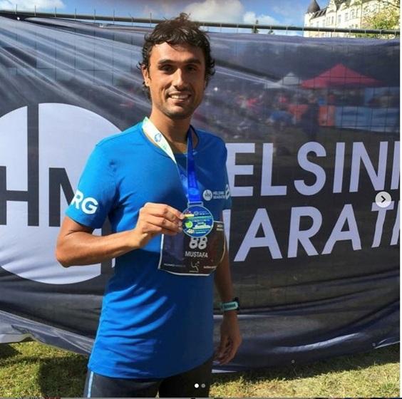 Helsinki Maratonun'da  Mücadele